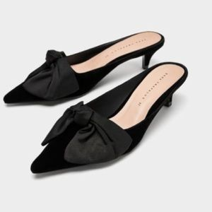 NWT Zara Slides Mules with Bows